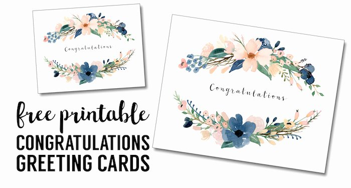 Baby Shower Card to Print Awesome Congratulations Card Printable Free Printable Greeting