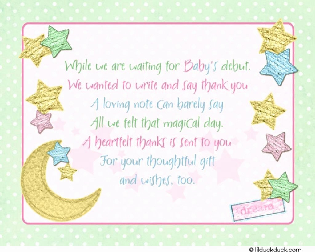 Baby Shower Card to Print Beautiful Baby Shower Thank You Cards Printable
