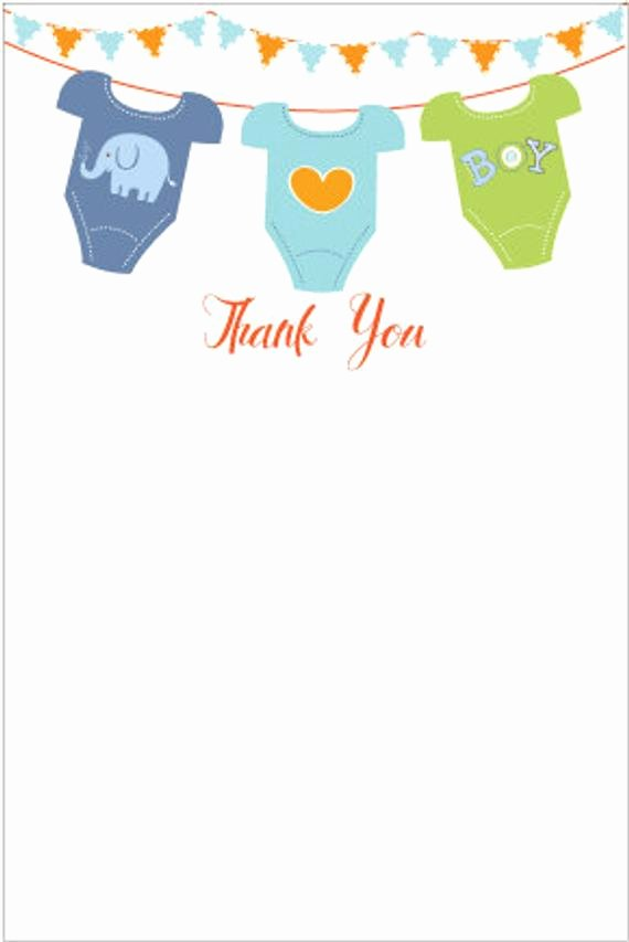 Baby Shower Card to Print Beautiful Printable Baby Shower Thank You Card