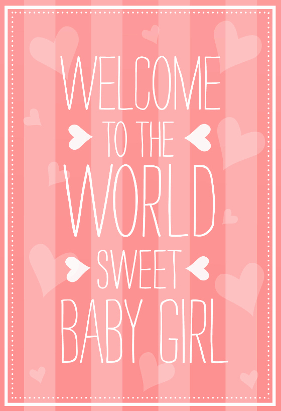 Baby Shower Card to Print Best Of Wel E to the World Baby Shower & New Baby Card