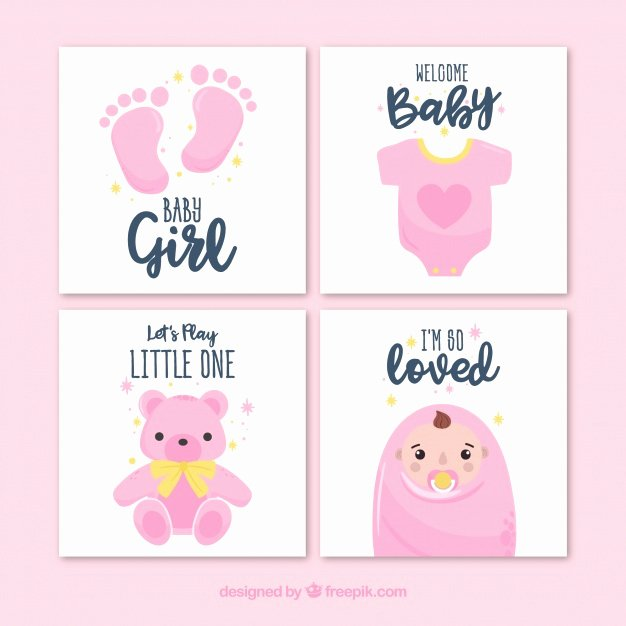 Baby Shower Card to Print Elegant Baby Vectors S and Psd Files