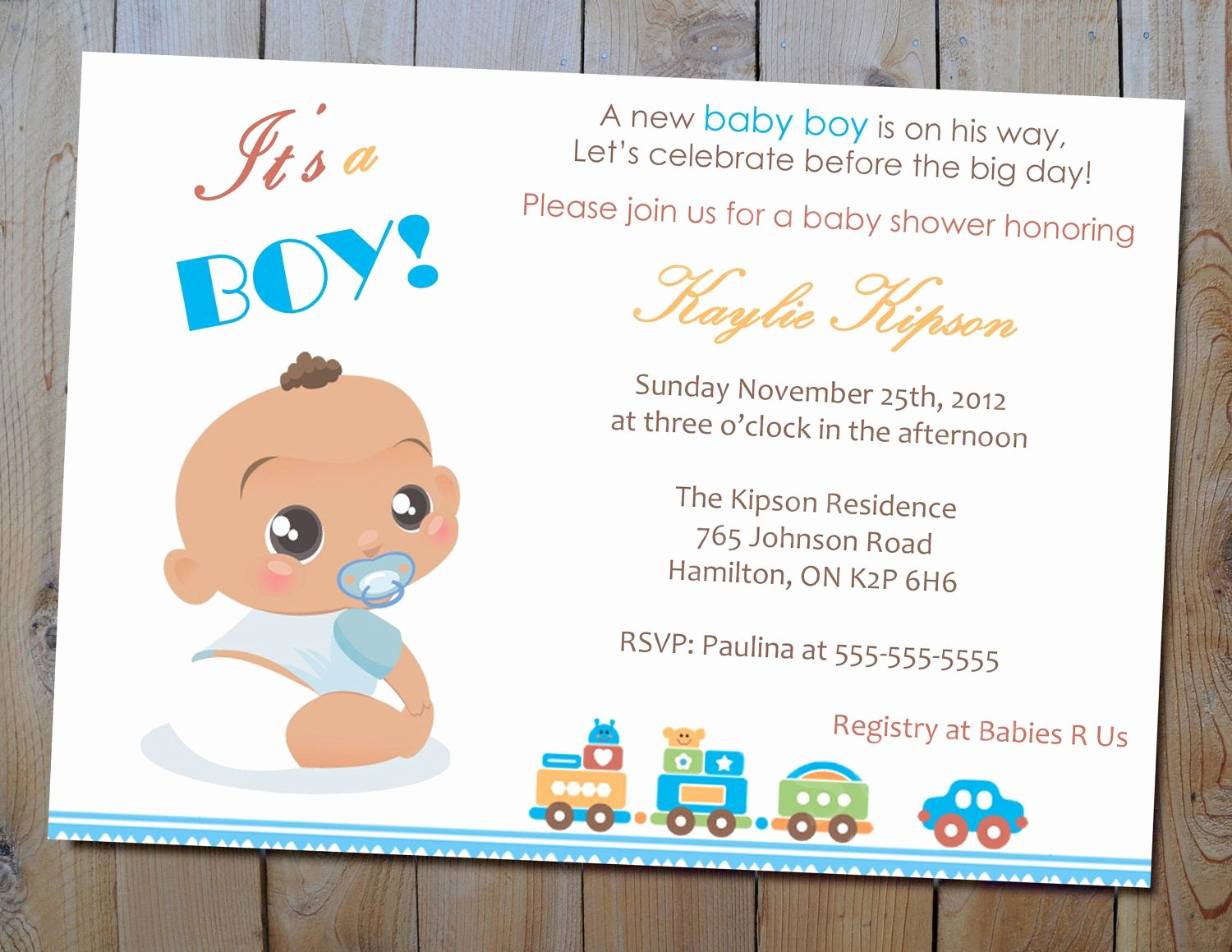 Baby Shower Card to Print Luxury Baby Boy Shower Invitation