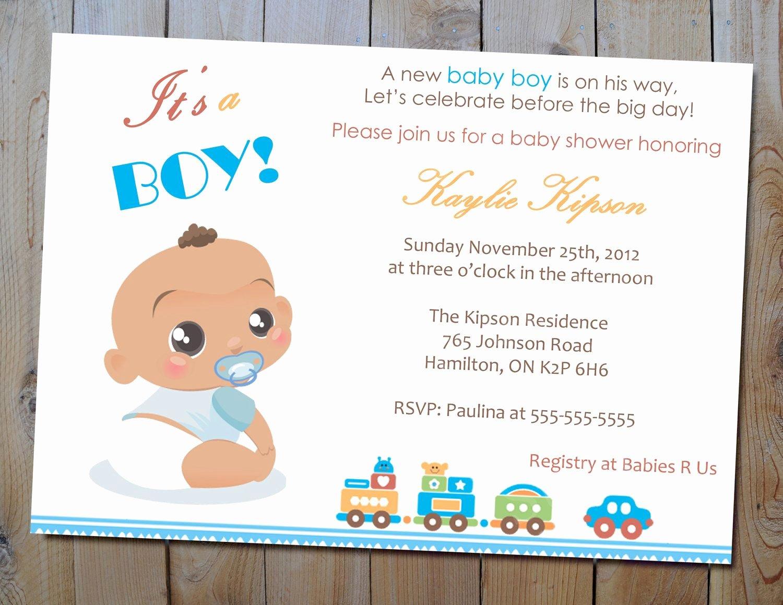 Baby Shower Card to Print Luxury Baby Boy Shower Invitation