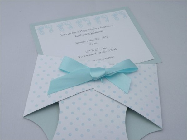Baby Shower Diaper Template Luxury 13 Sample Diaper Invitations Psd Vector Eps