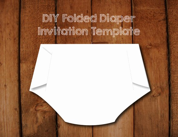 Baby Shower Diaper Template New Folded Diaper Invitation Diy Template with Instructions How