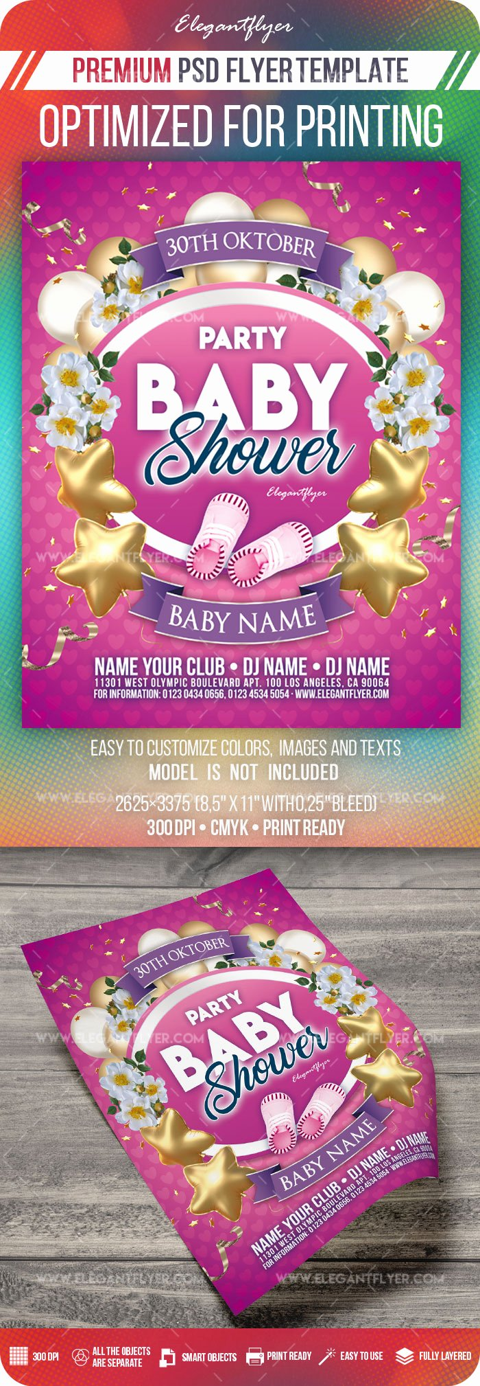 Baby Shower Flyer Ideas Awesome Baby Shower Party – Flyer Psd Template – by Elegantflyer
