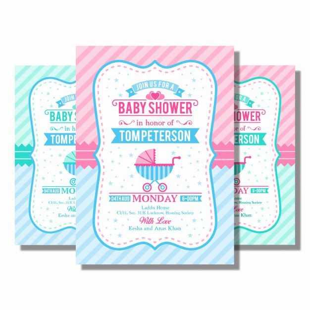 Baby Shower Flyer Ideas Beautiful Baby Shower Flyer Vector