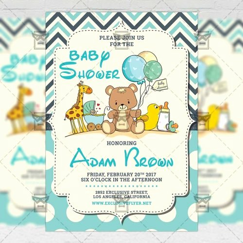Baby Shower Flyer Ideas Best Of Baby Shower – Kids A5 Flyer Template