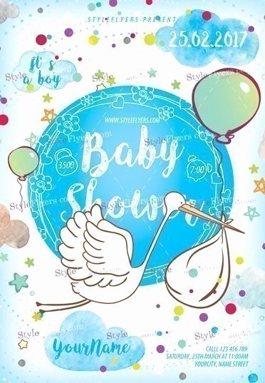 Baby Shower Flyer Ideas Fresh Baby Shower Psd Flyer Template Styleflyers