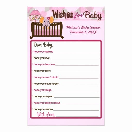 Baby Shower Flyer Ideas Lovely Elephant Baby Shower Wishes for Baby Advice orchid Flyer