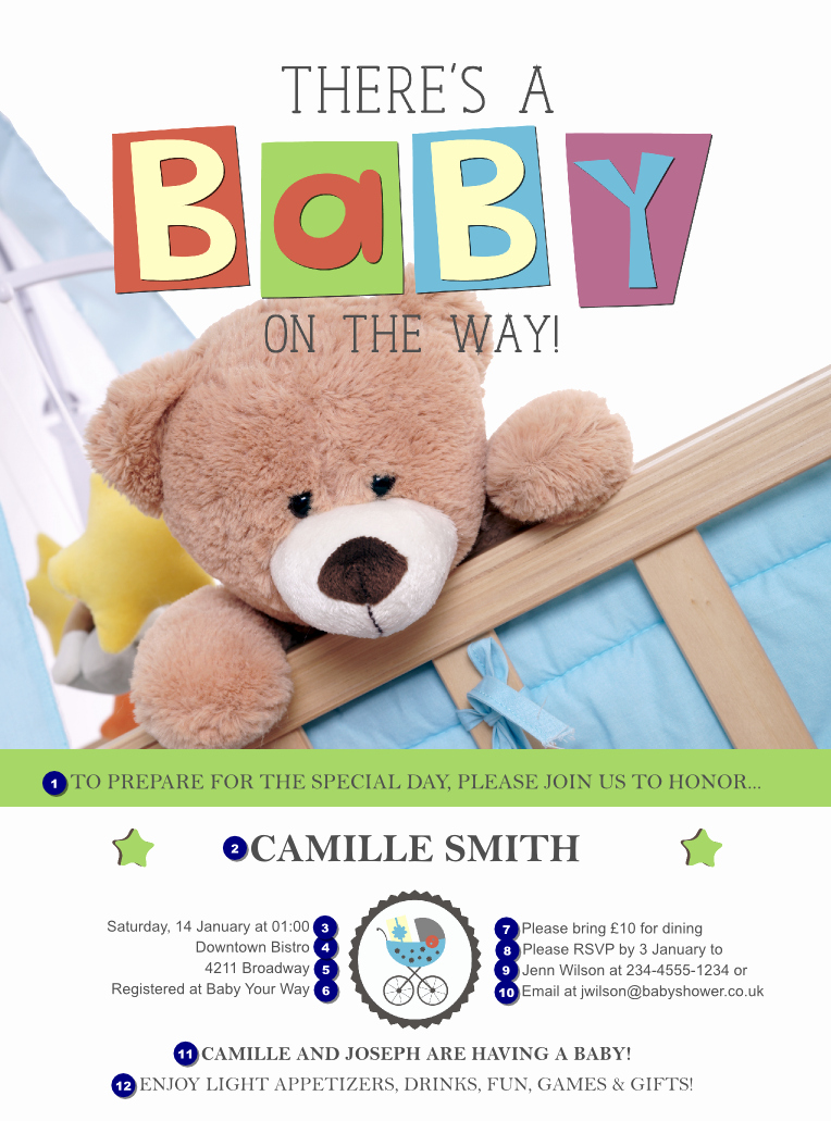 Baby Shower Flyer Ideas Luxury Baby Shower Teddy Flyer Ticket Printing
