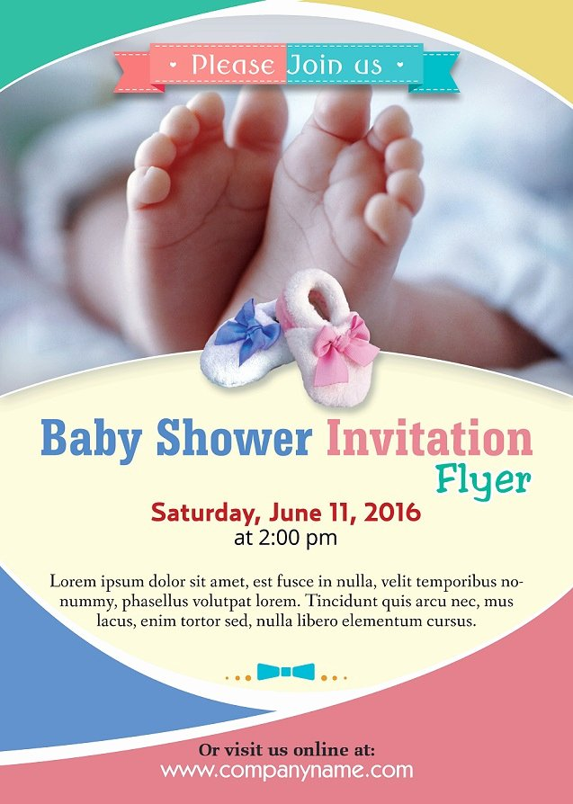 Baby Shower Flyer Ideas Unique Baby Shower Flyer Template Shop Version Free