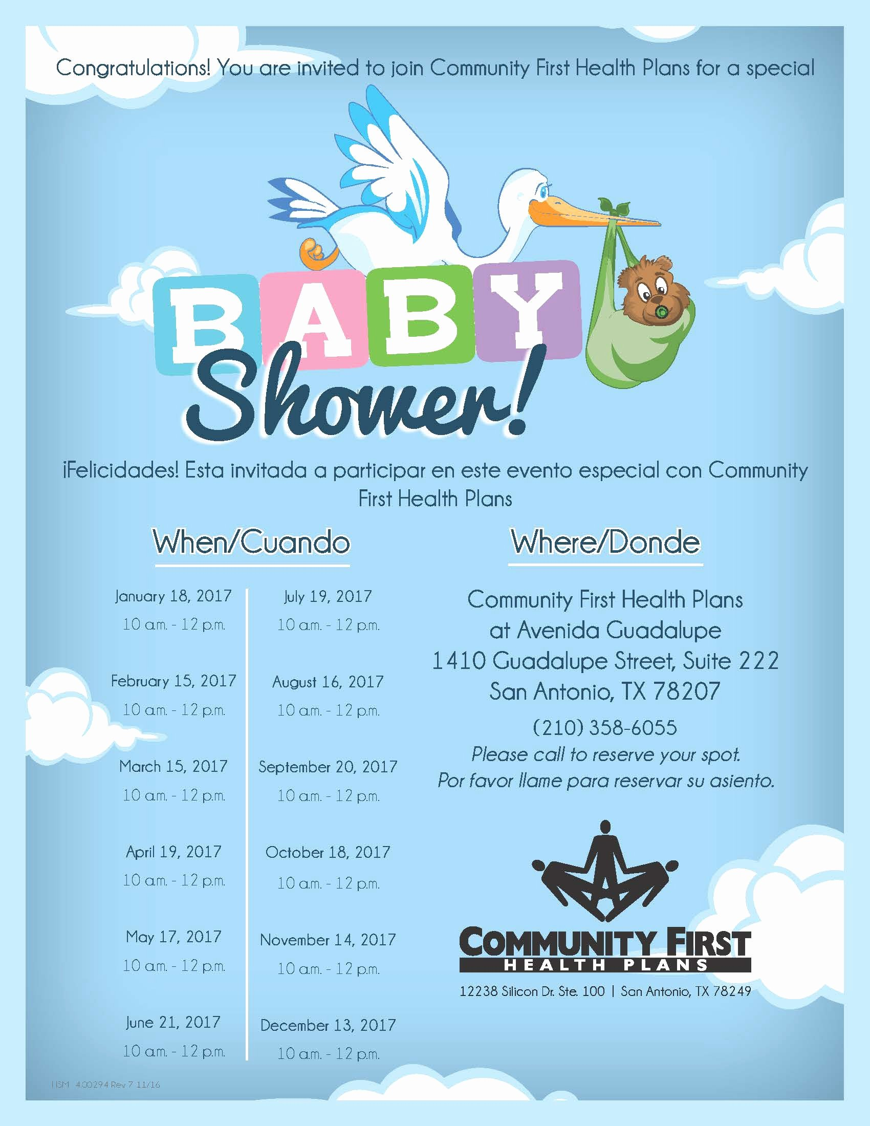 Baby Shower Flyer Ideas Unique events Munity First Health Plan