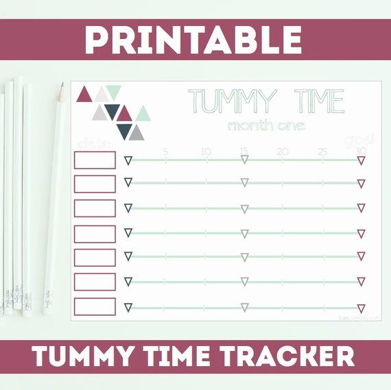 Baby Shower Gift Log Best Of Items Similar to Tummy Time Printable Log for New Baby