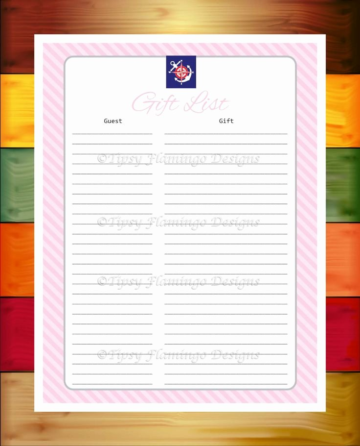 Baby Shower Gift Log Lovely 1000 Ideas About Baby Shower Gift List On Pinterest