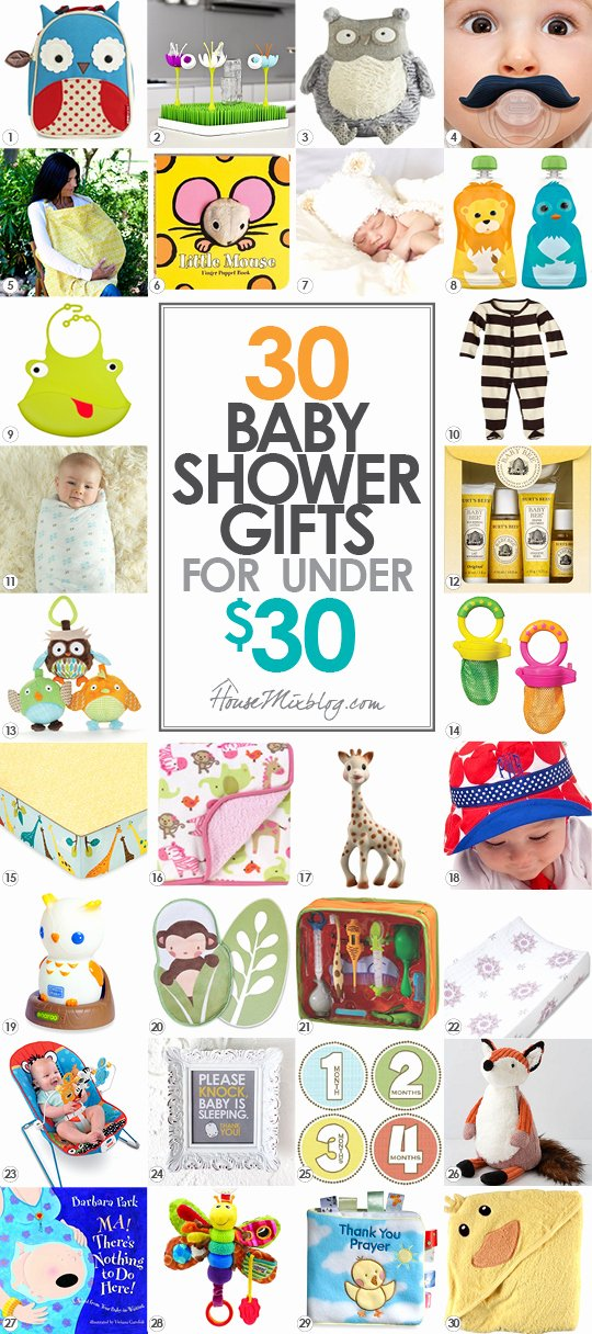 Baby Shower Gift Log Unique 30 Baby Shower Ts Under $30