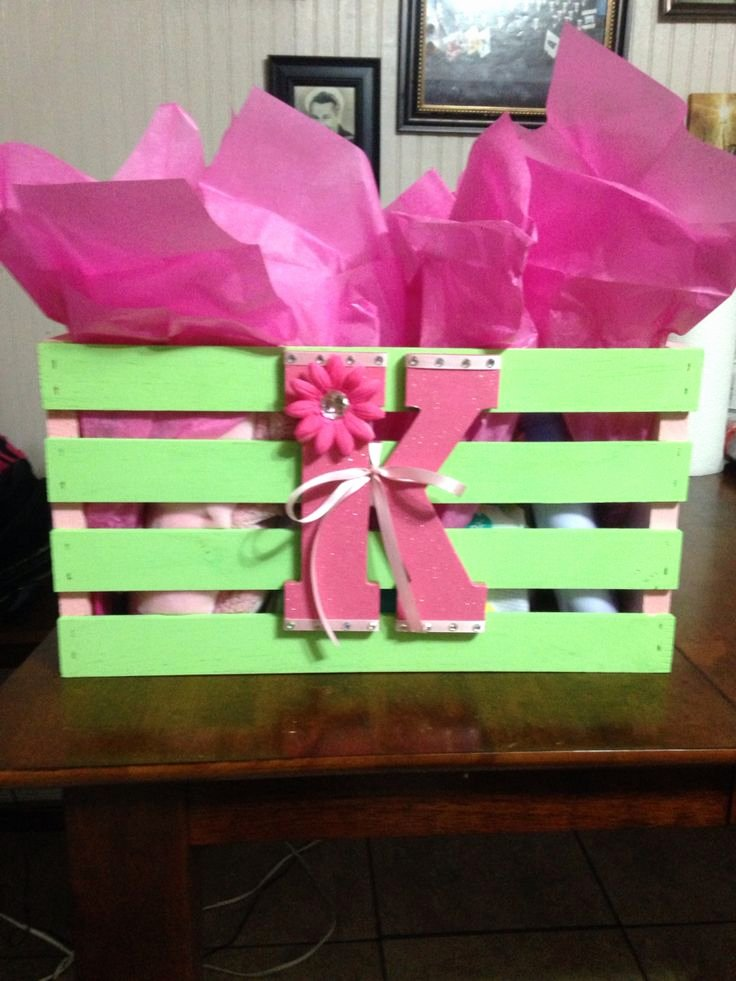 Baby Shower Gift Log Unique Baby Shower T Crate From Walmart Painted to Match