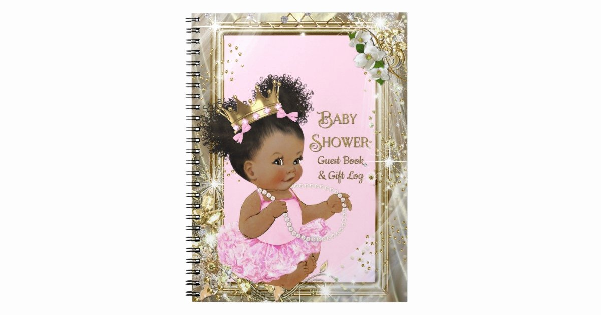 Baby Shower Gift Log Unique Princess Baby Shower Gift Log and Guest Book