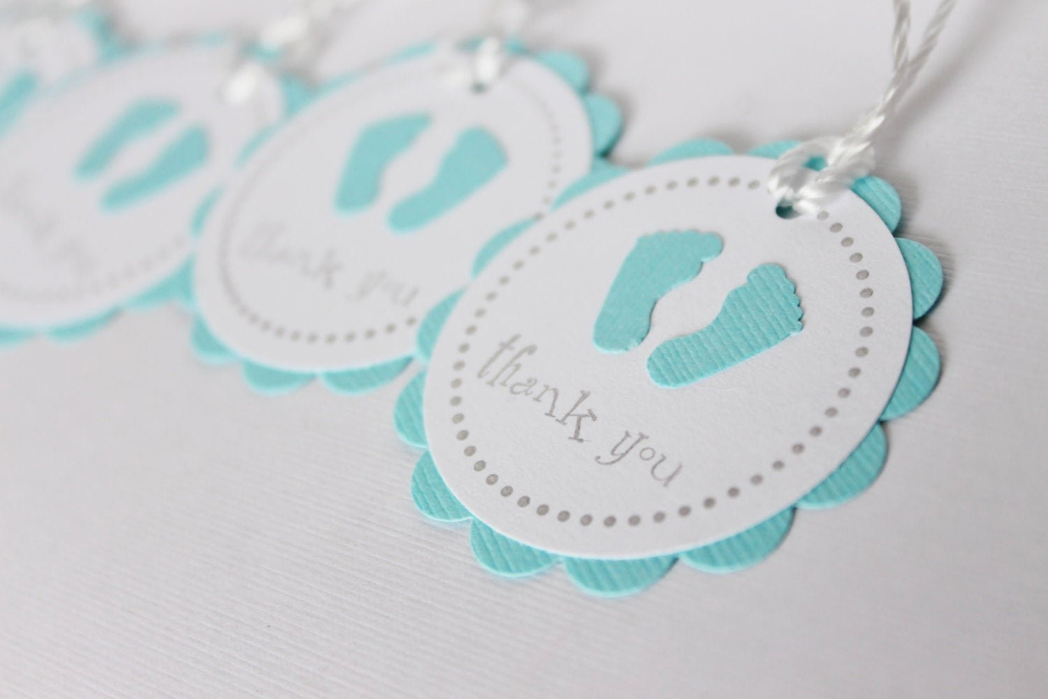 baby shower favor tags baby feet thank