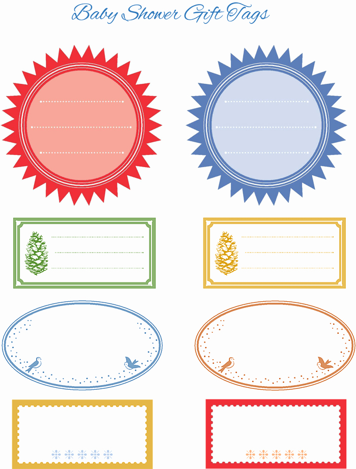 Baby Shower Gift Tag Template Elegant 5 Gift Tag Templates to Create A Personalized Gift Tag