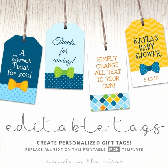 Baby Shower Gift Tag Template Elegant Baby Boy T Tags Favor Tags Template Printable Cutouts