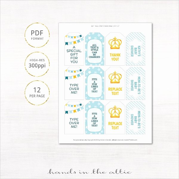 Baby Shower Gift Tag Template Inspirational 10 Awesome Gift Tags