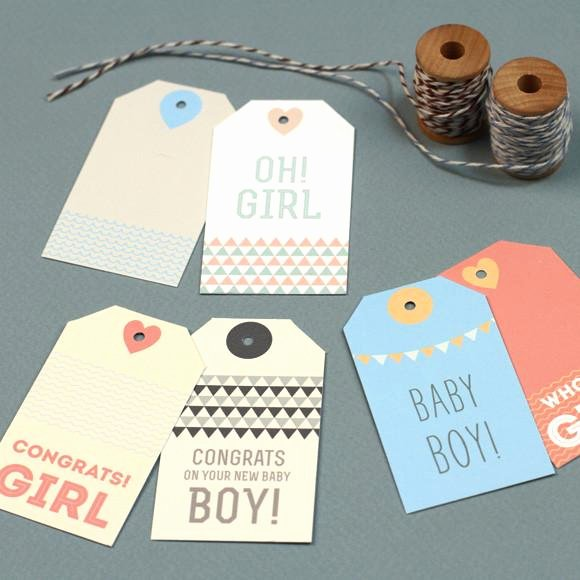 Baby Shower Gift Tag Template Inspirational New Baby Gift Tags Printable Template