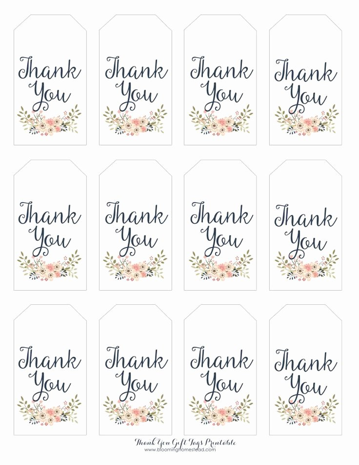 Baby Shower Gift Tag Template Luxury Thank You Gift Tags Baby Girl Party Ideas