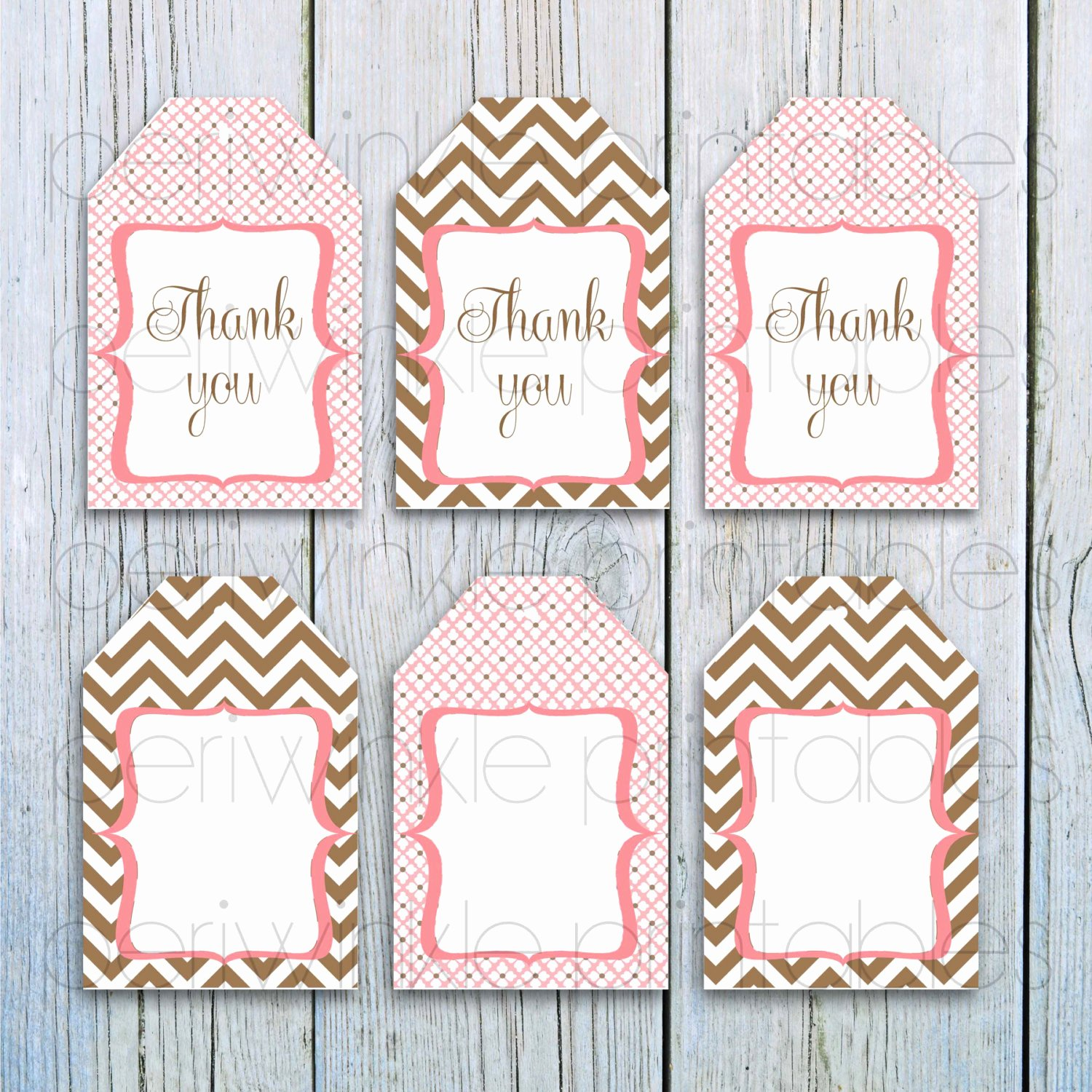 Baby Shower Gift Tags Printable Awesome Instant Download Printable Gift Tags Pink and Brown Gift