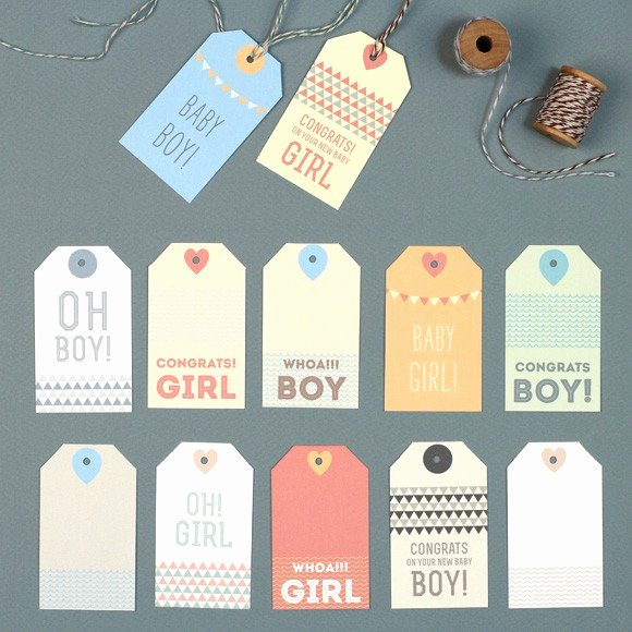 Baby Shower Gift Tags Printable Awesome New Baby Gift Tags Printable by Basic Invite