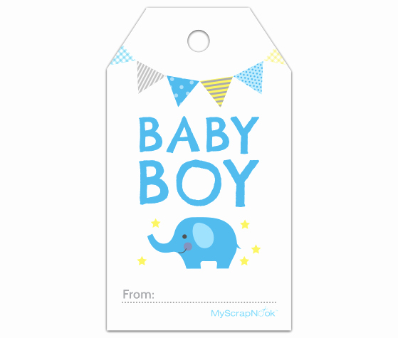 Baby Shower Gift Tags Printable Beautiful Download This Boy Baby Blue Elephant Gift Tag and Other