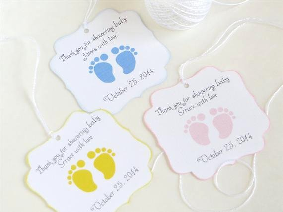 Baby Shower Gift Tags Printable Luxury Baby Feet Custom Baby Shower Favor Tags Footprint Baby