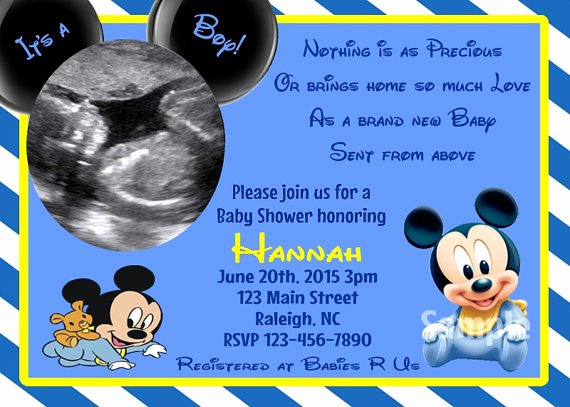 Baby Shower Mickey Mouse Invitations Awesome Blank Mickey Mouse Baby Shower Invitations