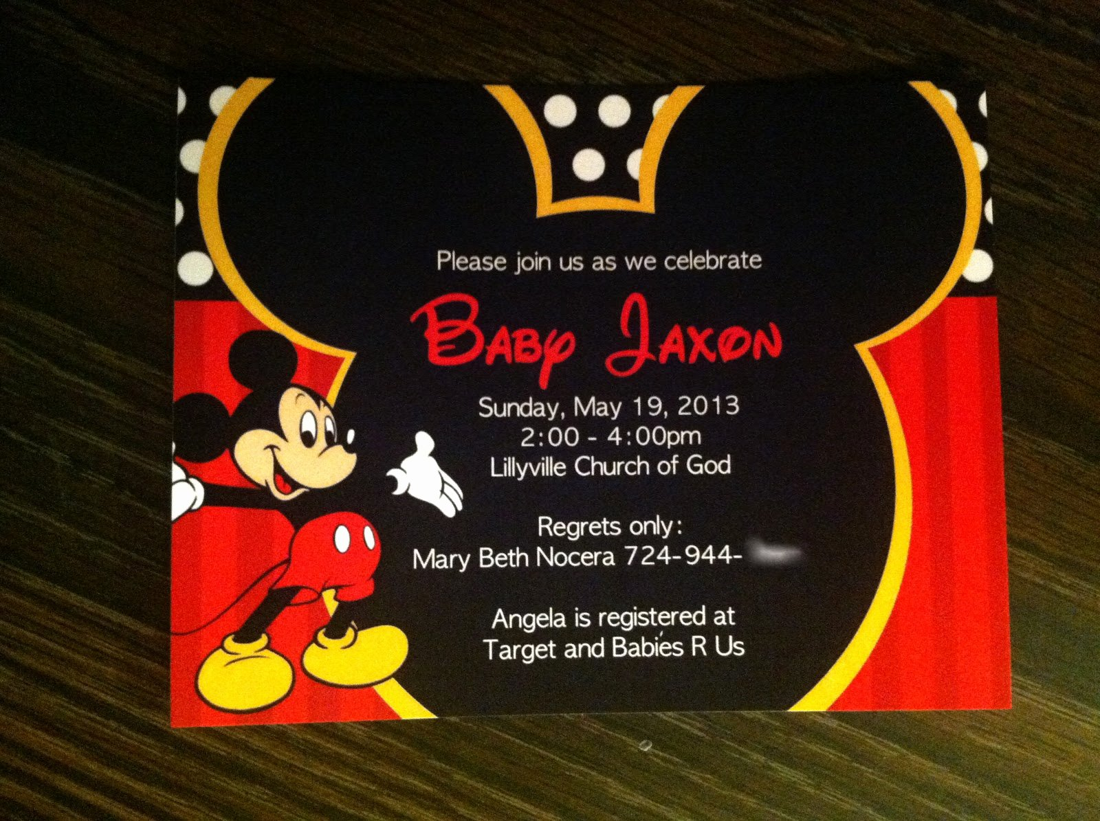 Baby Shower Mickey Mouse Invitations Lovely Renae Stamps Mickey Mouse Baby Shower