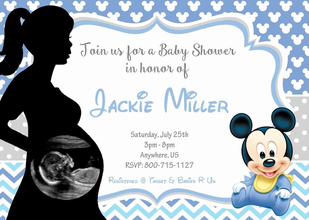 Baby Shower Mickey Mouse Invitations Luxury Baby Mickey Mouse Baby Shower Invitations Print Your Own