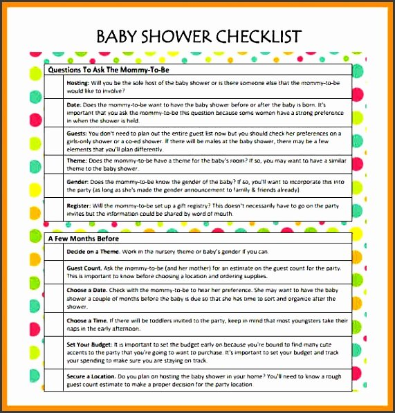 Baby Shower Planning List Beautiful 11 Baby Shower Planner Sample Sampletemplatess