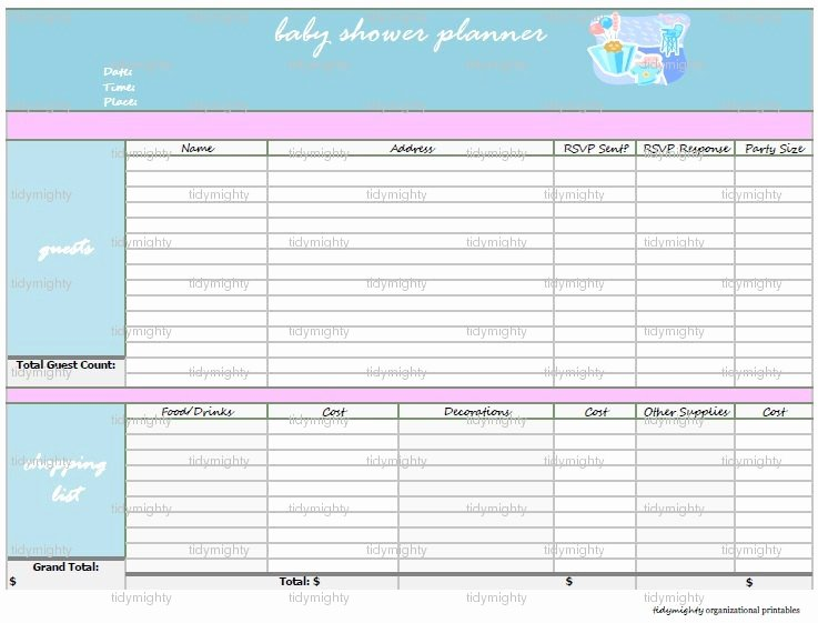 Baby Shower Planning List Best Of Baby Shower Planner organizer Printable Pdf by Tidymighty