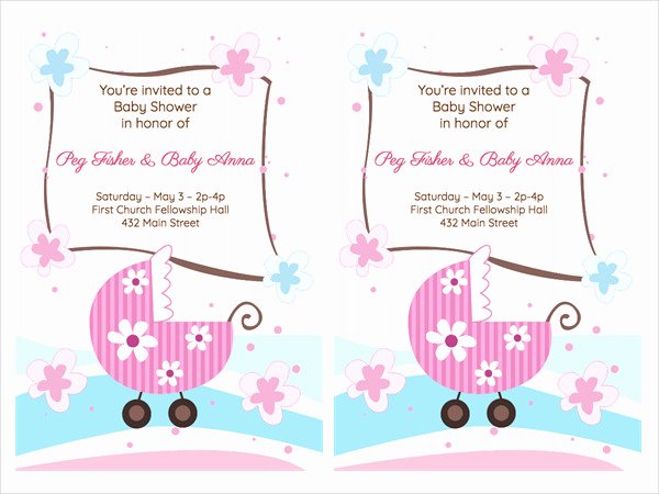 Baby Shower Program Sample Beautiful Free 48 Baby Shower Invitation Examples Word Psd Ai