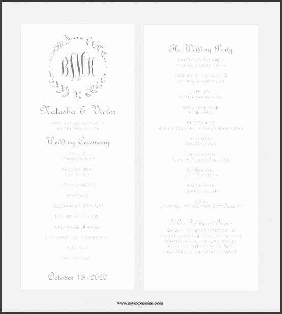 Baby Shower Program Sample Lovely 8 formal Invitation Template Microsoft Word