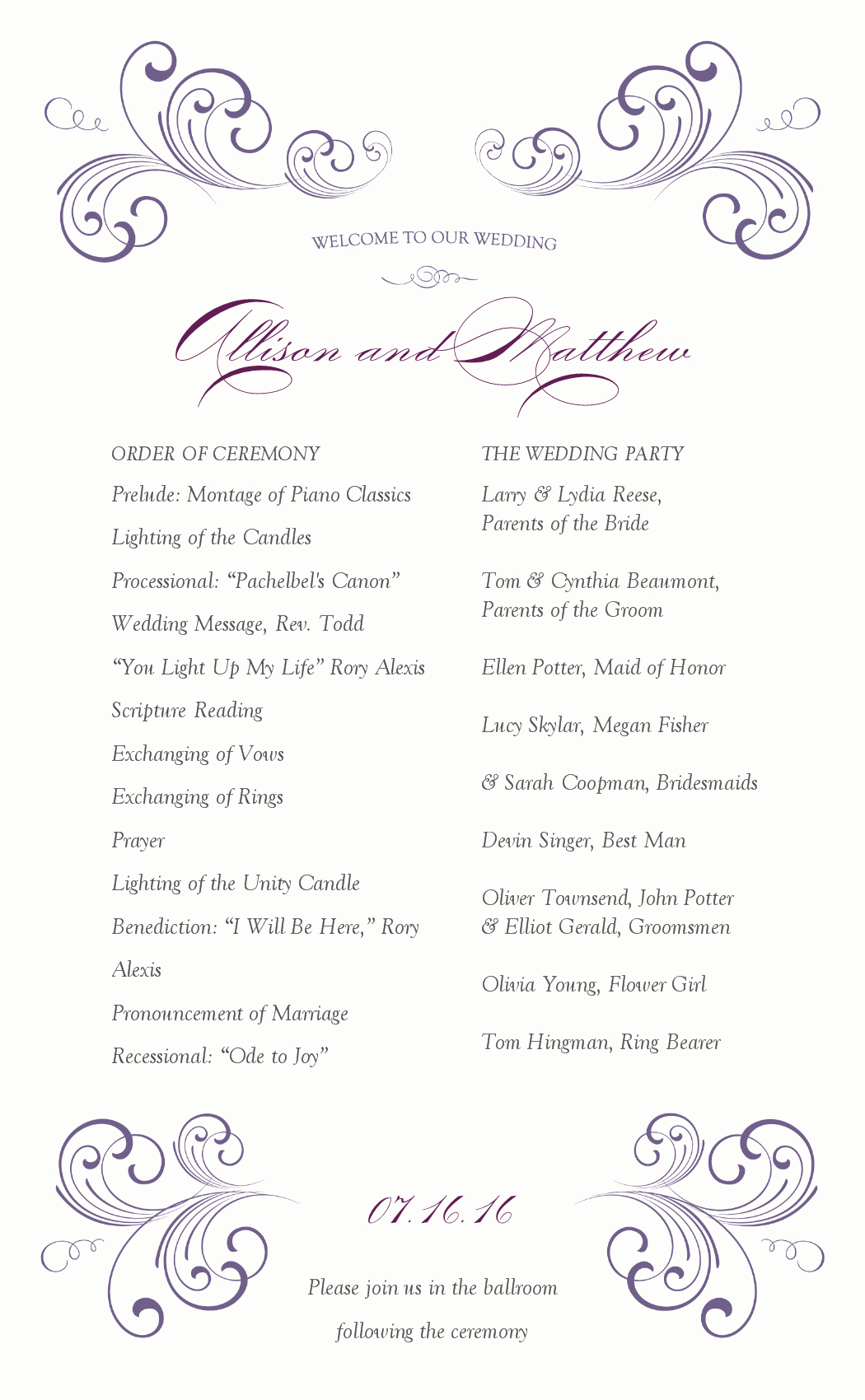 Baby Shower Program Sample Lovely Others Wondrous Sample Wedding Ceremony Ideas