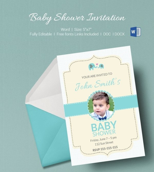 Baby Shower Program Sample Luxury 50 Microsoft Invitation Templates Free Samples