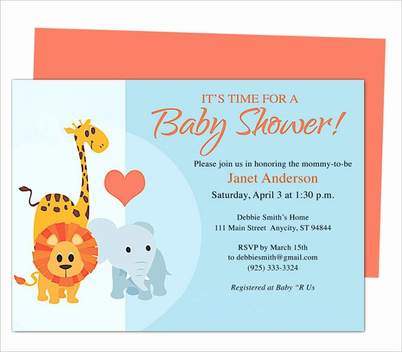 Baby Shower Program Sample Unique 50 Microsoft Invitation Templates Free Samples