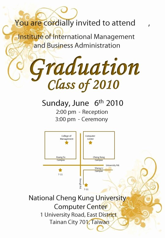 Baby Shower Program Sample Unique Graduation Ceremony Invitation Template
