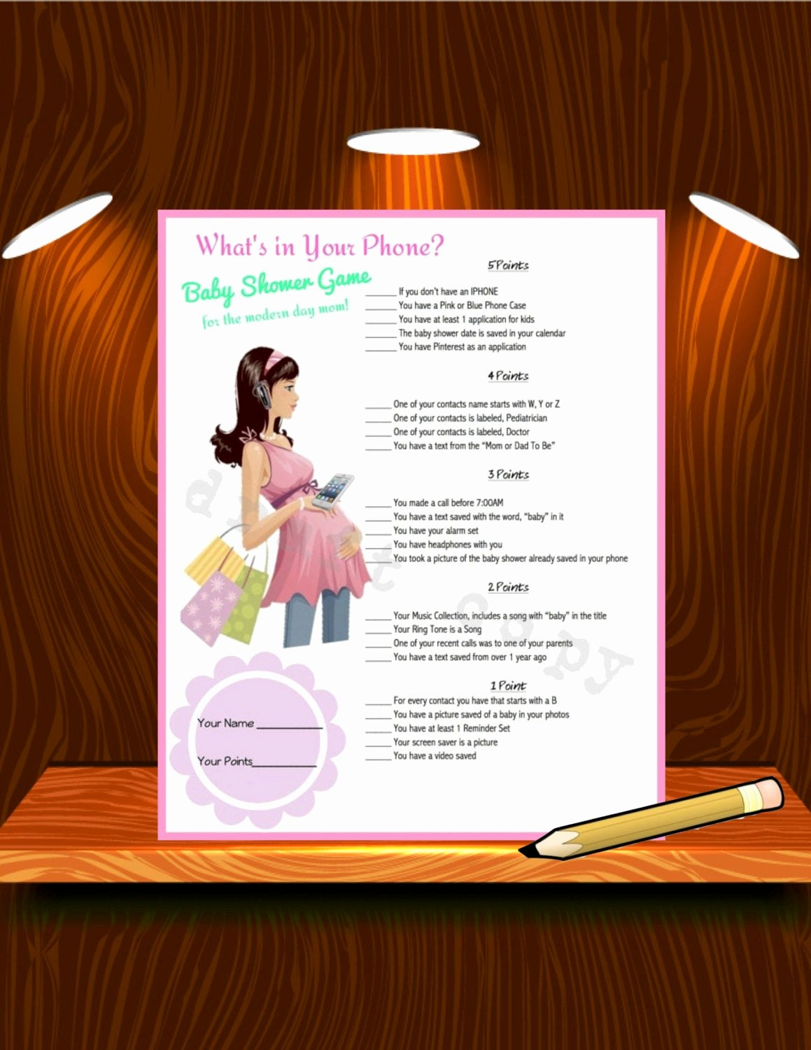 Baby Shower Program Template Beautiful Baby Shower Game Printable Instant