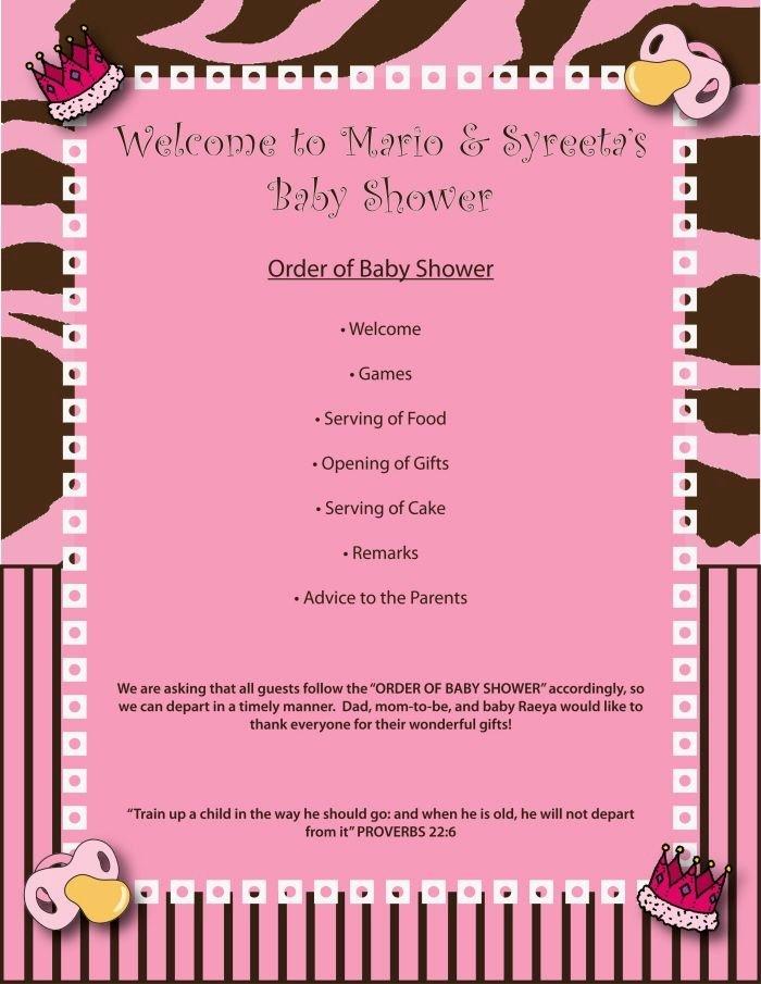 Baby Shower Program Template Beautiful Images Of Baby Shower Agenda