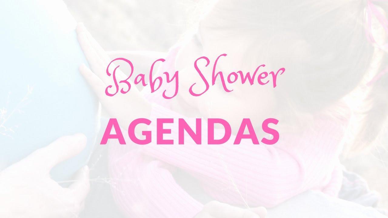 Baby Shower Program Template Elegant Baby Shower Agendas Do I Need A Baby Shower Agenda