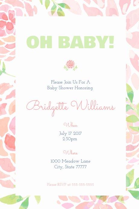 "Baby Shower Program Template Elegant Baby Shower ""oh Baby "" Template"