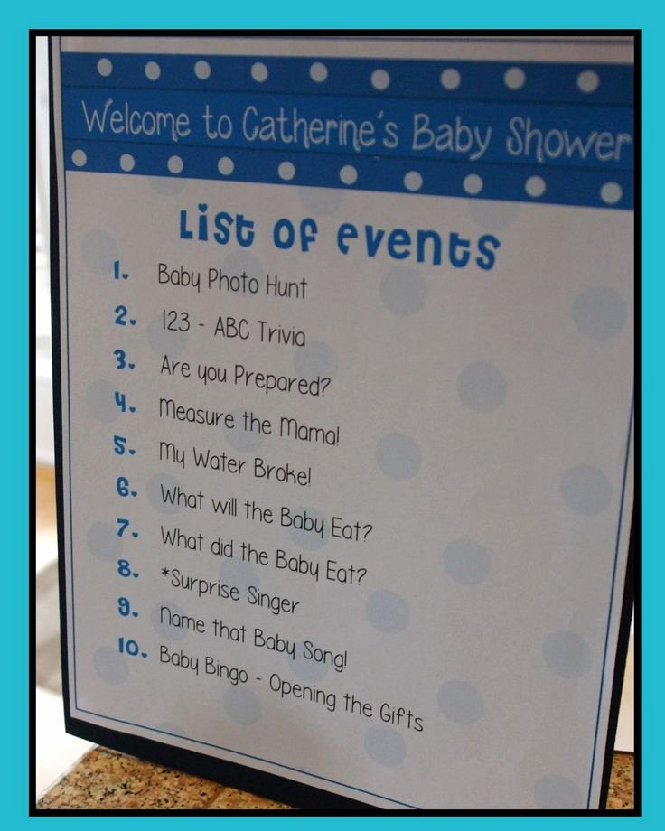 Baby Shower Program Template Unique 17 Best Images About Tiffany S Baby Shower On Pinterest