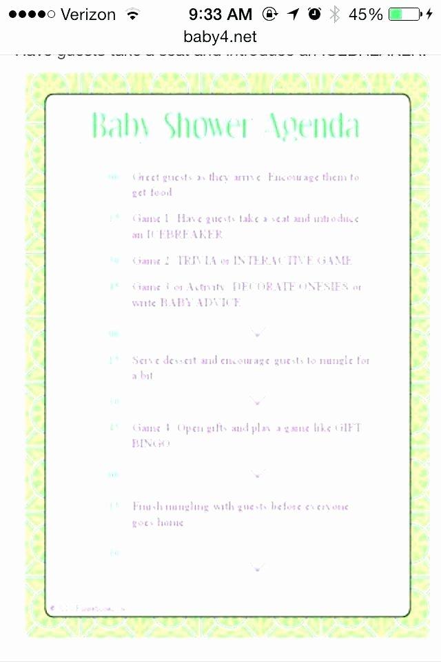 Baby Shower Programs Template Inspirational Baby Shower Program – Tuxtfo