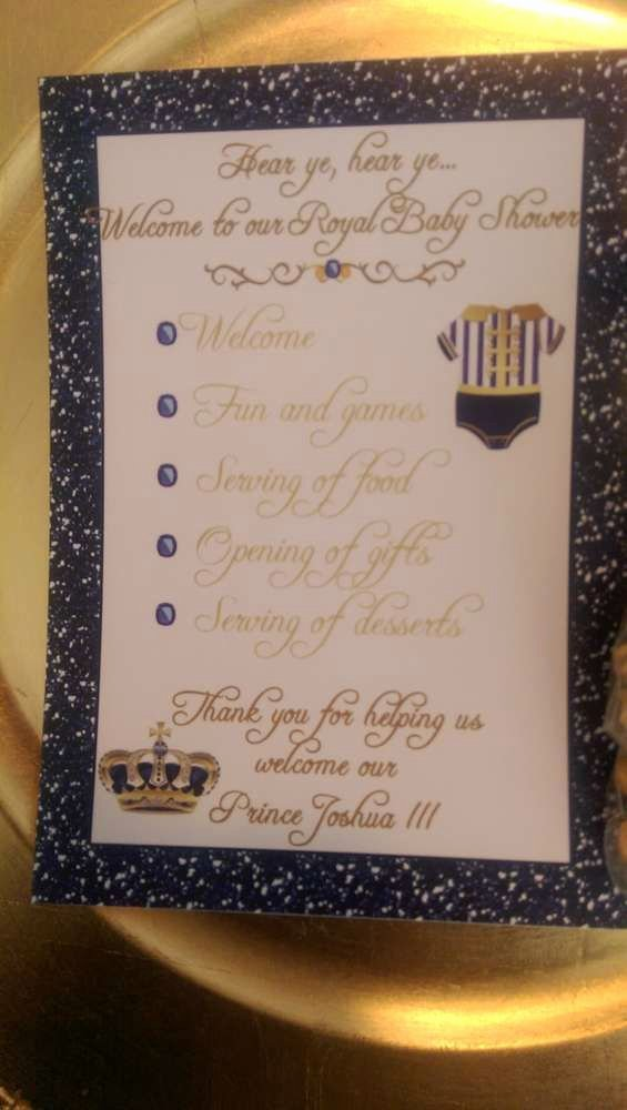 Baby Shower Programs Template New Royal Prince Baby Shower Party Ideas
